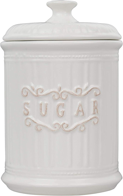 Porcelain Sugar Canister Airtight White Jar Storage Max 53% OFF Virginia Beach Mall