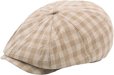 157557c0031 Plaid Gatsby Cap Mens Boys Paperboy Cap Gentlemens Choice Beret Hat- Multicolor
