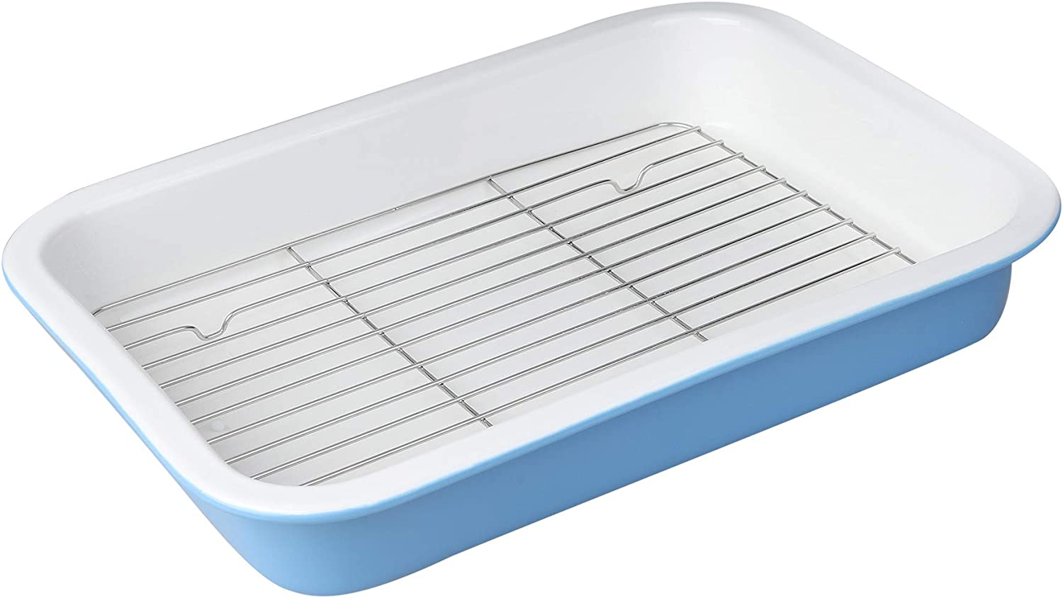 DUS Ceramic 13×9 Mail order cheap unisex Inches Baking Dish Cooke Pan with Rack for Oven