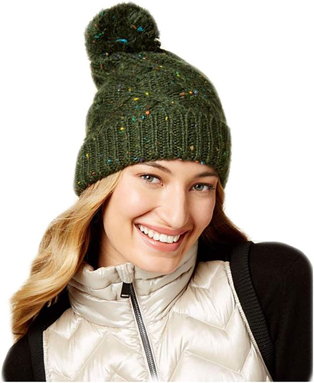 Steve Madden Women's Speckled Cable Beanie