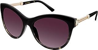Southpole Women's 238sp-oxts 238SP OXTS Cateye Sunglasses, Black / Tortoise, 52 mm