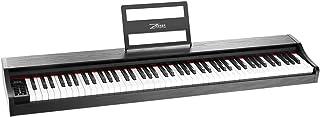 ZHRUNS 電子ピアノ88鍵盤 最新版の(デジタルピアノ)フランスのDREAM音源 軽量でポータブル 多機能 移動収納便利 愛好家と初心者と子供向け練習用に最適 ペダル付き MIDI対応(黒)