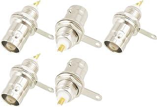 uxcell 5 BNC Female Nut Bulkhead Solder RF Connector Adapters