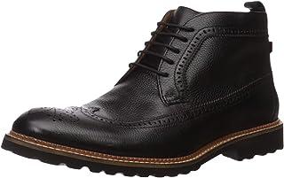 حذاء وينج تيب للكاحل من ميرك جوزيف نيويوك المنسوج من الجلد الطبيعي ذو الاربطة والوزن الخفيف للغاية.
