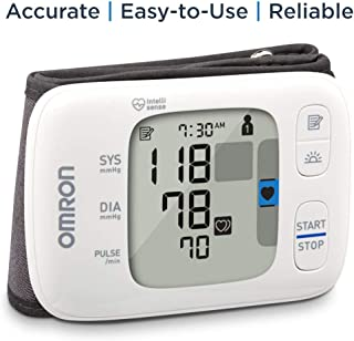 OMRON Gold Blood Pressure Monitor, Portable Wireless Wrist Monitor, Digital Bluetooth® Blood Pressure Machine, Stores Up to 200 Readings for Two Users (100 Readings Each)