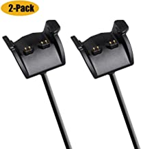 2-PACK Charger for Garmin Vivosmart HR HR+ Approach X40 (3.3ft/100cm),Mixtecc USB Replacement Data Sync Charging Cable Cord Wire Clip Adapter Dock Station Cradle