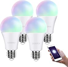 Smart Light Bulb Alexa, E26 60W, WiFi LED RGB Color Changing Light Bulb Dimmable Compatible with Alexa, Echo and Google As...