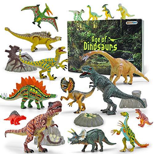 GizmoVine Dinosaurios Juguetes,20 Piezas Dinosaurios Figuras, Educativo Realista Animales Juguetes para NiñOs 2 3 4 5 6 AñOs
