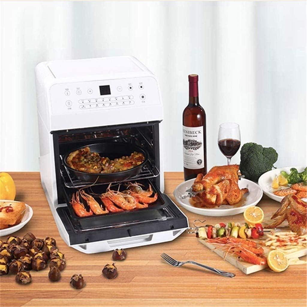 12L 1600W Non électrique Air Fryer Fumée avec LED numérique à écran tactile, avec déshydrateur Four Countertop et Rôtisserie (Couleur : A) A (Pack Of 2)