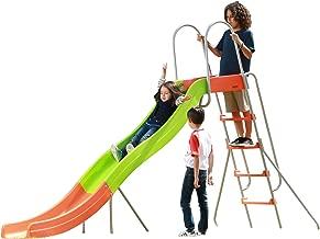 SLIDEWHIZZER Outdoor Play Set Kids Slide: 10 ft Freestanding Climber, Swingsets, Playground Jungle Gyms Kids Love – Above Ground Pool Slide for Summer Backyard