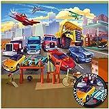 GREAT ART Fototapete – Autorennen – für Kinderzimmer