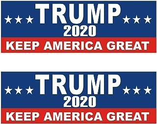 Shmbada 2 PCS US Donald Trump 2020 Keep America Great Patriotic Political Election Vinyl Stickers Waterproof Decal for Car, Bumper, Motorboat, Laptop, Helmet, 3 x 10 Inch, Set of 2