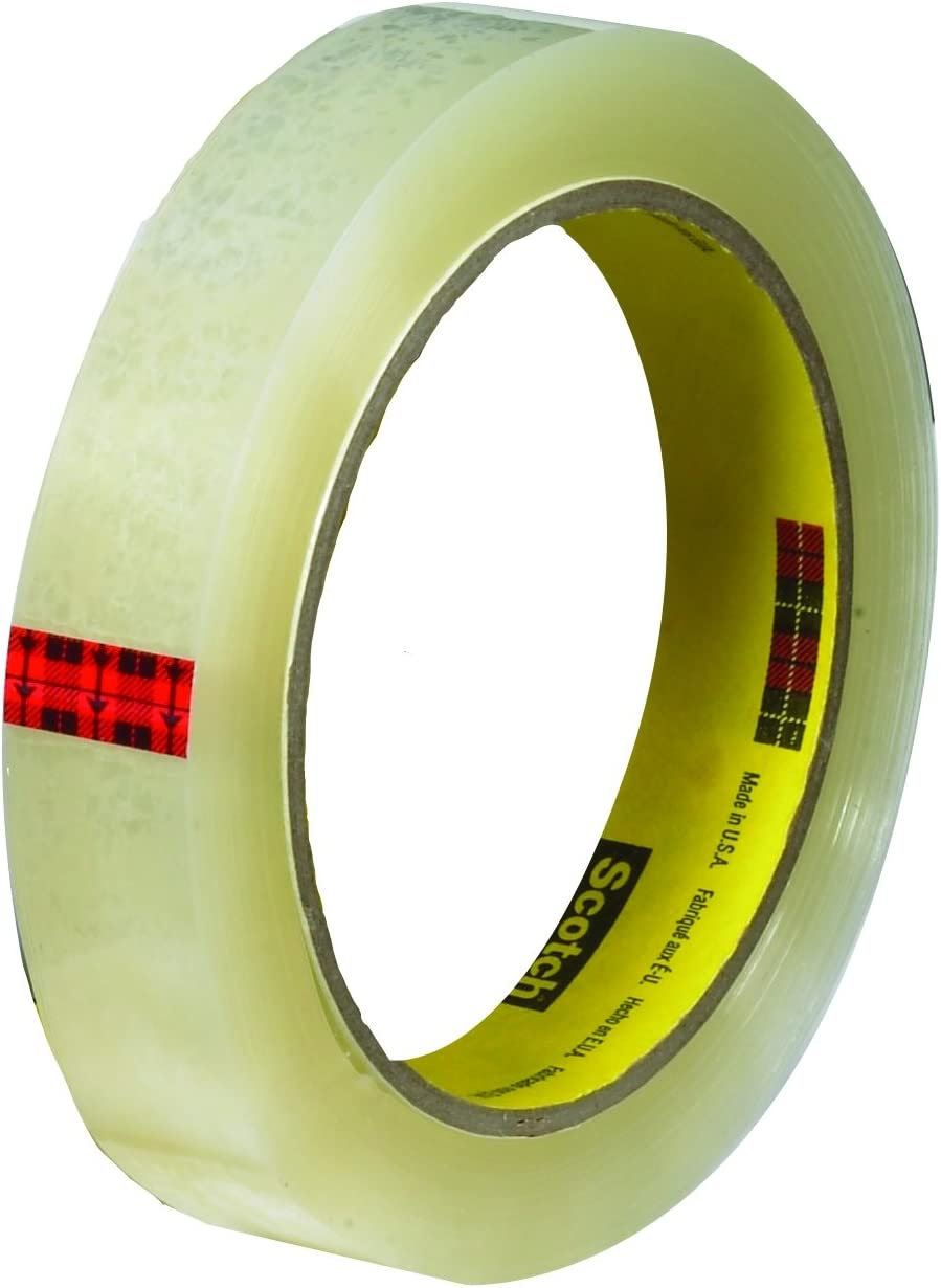 Scotch Transparent Clear Finish Tape 3 Inch Core Great Value WJY6L 1//2 x 2592 Inches 8 Rolls
