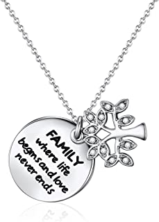 Mestige Family Forever Necklace with Swarovski Crystals, Gifts, Tree of Life