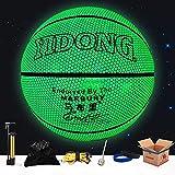 YZPXDD Holographiques Glowing réfléchissant Basketball - Artesanat Cuir spécial for Light Up Flash Caméra Glow Rainbow in The Dark for Les Enfants et garçons - Officiel 29,5 Suit (Couleur : F)