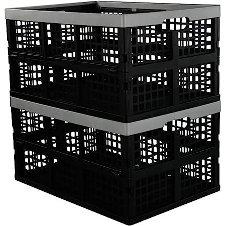 Details about  /20 Fruit Crates Stackable Foldable Wood Design Plastic 400x300x165mm gastlando show original title
