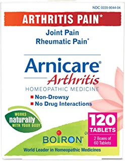 Boiron Arnicare Arthritis Homeopathic Medicine for Arthitis Pain, Joint Pain, and Rheumatic Pain, Non-Drowsy, 120 Tablets,...
