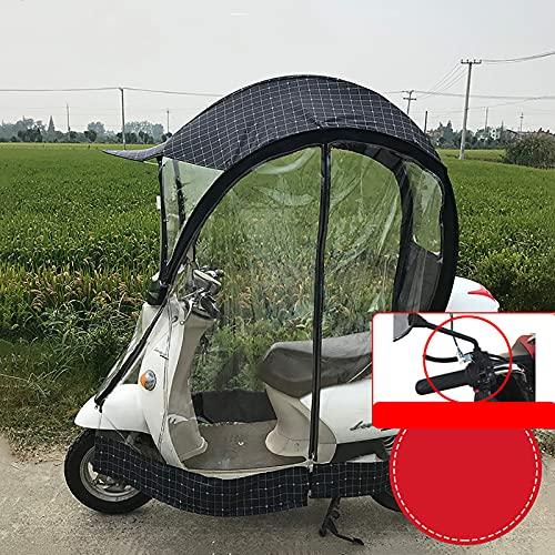 WYB Cubierta de sombrilla de Motocicleta eléctrica Universal, sombrilla de Scooter de Motor Completamente Cerrada sombrilla de Movilidad y Cubierta de Lluvia Impermeable,with Rear View Mirror