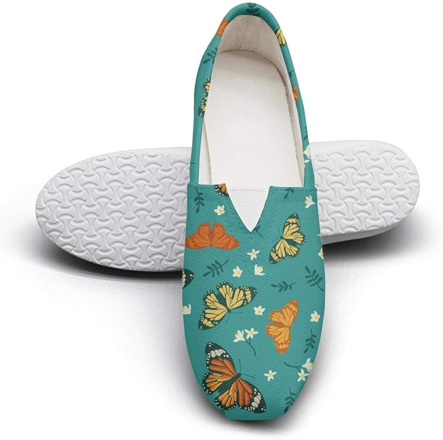 Fake lace butterfly butterfly puzzle Classics Women's Comfort Flat Walking Sneakers Girls Loafer shoes