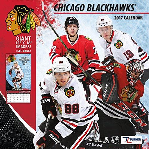 "Turner Licensing Sport 2017 Chicago Blackhawks Team Wall Calendar, 12""X12"" (17998011936)"