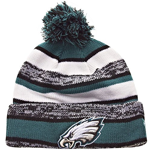New Era Philadelphia Eagles 2014 On Field Sport Cuffed Pom Knit Beanie Hat/Cap