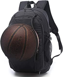 Basketball Backpacks Sports Bags for Football, Soccer with Ball Compartment Laptop Computer Backpack with USB Charging & H...