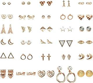 comprar comparacion FENICAL Ear Stud Pendientes pequeños y Frescos con Forma de Estrella Animal en Forma de Estrella Anillos de Orejas con 30 ...