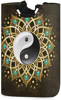N\A Panier à Linge, Tribal Chinois Yin Yang paniers de Rangement de Linge vêtements Pliables Sac Organisateur de Jouets po...