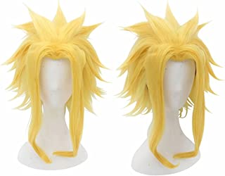 Kadiya Medium Length Yellow Golden Might Boy Male All Comic-Con Cosplay Costume Wig Stage Props