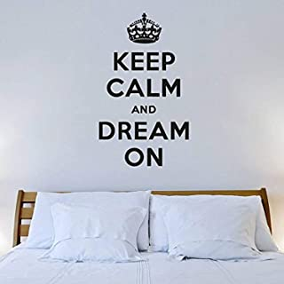 Wall Decal Vinyl Sticker Decals Art Decor Design Sign Keep Calm and Dream On Gift Love Good Night Kiss me Bedroom Living Room GF307