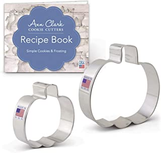 Ann Clark Cookie Cutters 2-Piece Fall and Halloween Cookie Cutter Set with Recipe Booklet, 3
