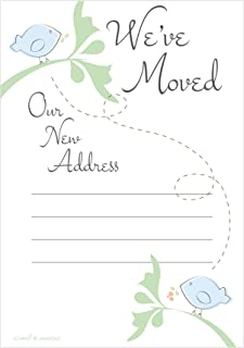 New Address Cards - Moving Announcements - Fill In Style (20 Count) With Envelopes