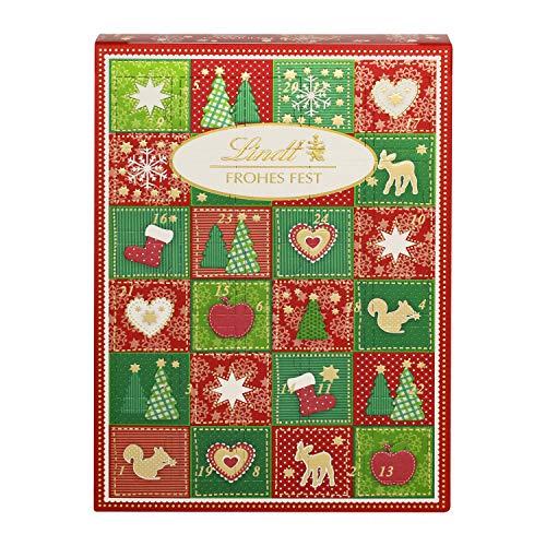 Lindt Frohes Fest Mini-Tisch-Adventskalender (24 verschiedene Schokoladenkugel-Überraschungen) 2er Pack, 2 x 115g