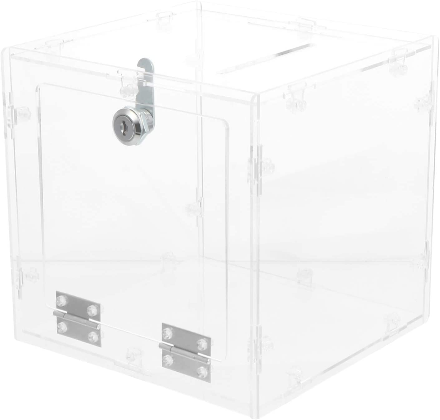 ARTIBETTER Acrylic Donation Box with Direct stock discount Max 80% OFF Clear Dis Large Ballot Lock