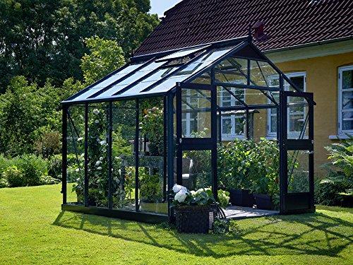 Juliana Gewächshaus Premium 8.8 anthrazit Blankglas