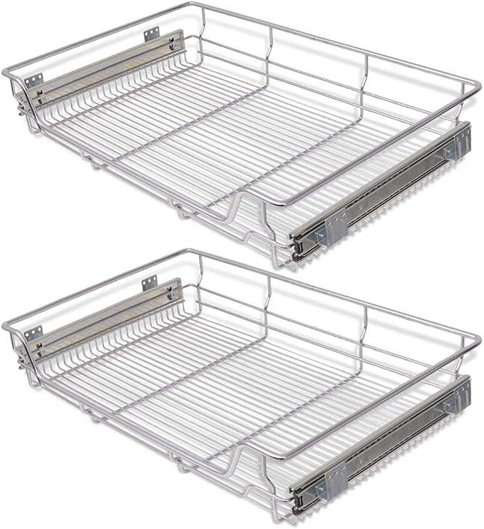 1394 opinioni per vidaXL 2x Cestelli a Rete Metallo Scorrevoli Cucina 800 mm Supporto Stoviglie