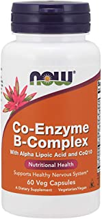 NOW Supplements, Co-Enzyme B Complex with Alpha Lipoic Acid and CoQ10, Nutritional Health, 60 Veg Capsules