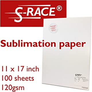 Sublimation Paper S-RACE Vivid 120 gsm, 11 x 17'', 100 Sheets - for any sublimation printer, incl. recommendation for transfer heat & transfer time
