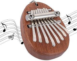 Mbira 8 Keys Kalimba Mini Portable Thumb Piano Solid Wood Gift Musician