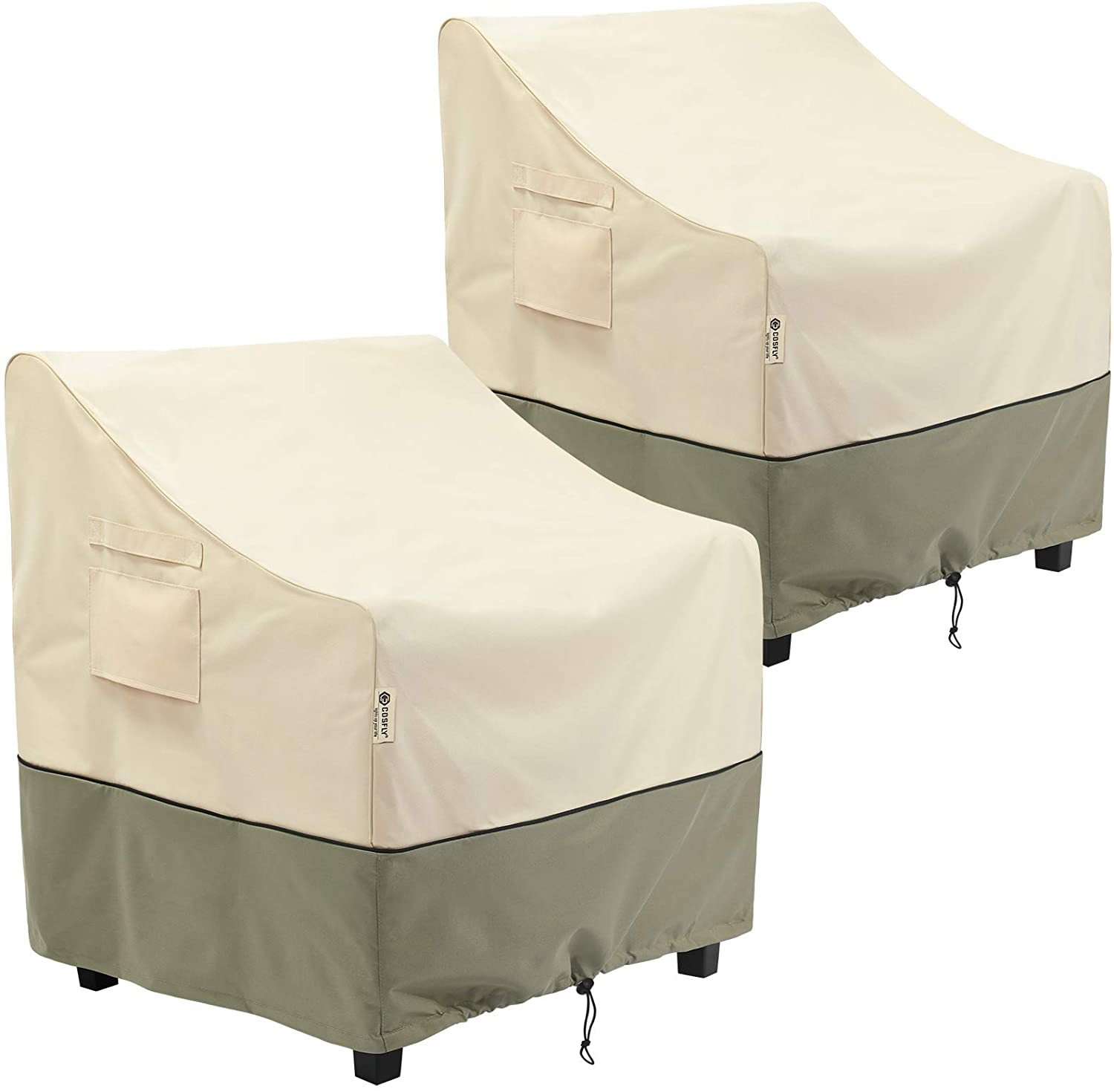 COSFLY Outdoor Furniture Patio Chair Covers Waterproof Clearance, Lounge Deep Seat Cover, Lawn Furnitures Covers Fits up to 29W x 30D x 36H inches(2 Pack)