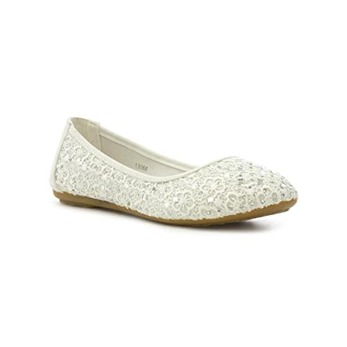 42378af57 Lilley Womens White Jewelled Ballerina