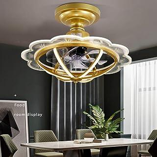 HKLY Ventiladores de Techo con Iluminación, Ventilador Creativo 25W Luz de Techo LED Regulable con Control Remoto Lámpara Ventilador Reversible Silenciosa para Dormitorio Sala de Estar