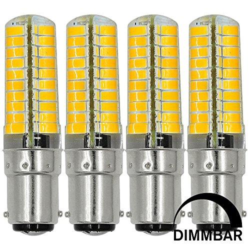 MENGS 4-er Pack B15D 7W LED Dimmbar Lampe 580lm, 6000K Kaltweiß B15D LED Glühlampe Ersatz 55W B15D Halogenlampe 360° Abstrahlwinkel für Wohnzimmer, Schlafzimmer, Küche, Esszimmer, Büro, Laden, Bad usw