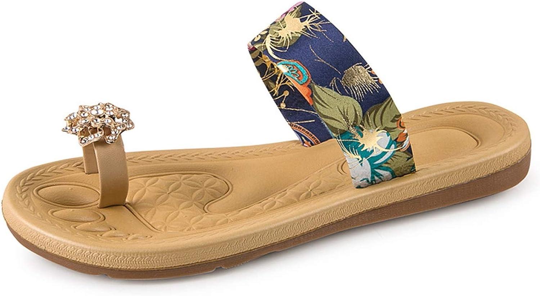 Rather be Women Bohemia Flip Flops shoes Summer Beach Slippers 2019 Flat Flip Flops Sandals Loafers Bohemia shoes Flats