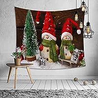 qjdndn タペストリースノーマンサンタクロースChirstmasツリーキャットプリント壁掛け装飾テーブルカバービーチタオルマットブランケット-250x170cm