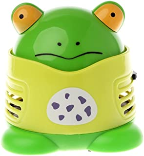 VesipaFly Table Cleaner, Desktop Vacuum Cartoon Mini Frog Dust Catcher Assistance Keyboard Cleaning, Dust Sweeper for Home...