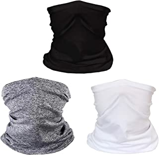 3 Pack Kids Face Scarf Mask Bandana Neck Gaiter Face Protective Balaclava for Girls Boys 6-14 Years, Not Contain Filters (#1-3pcs)