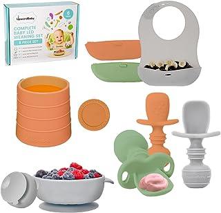 Baby Led Weaning Feeding Supplies for Toddlers - UpwardBaby Baby Feeding Set - Suction Silicone Baby Bowl - Self Eating Ut...