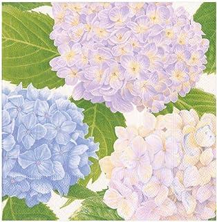 Caspari 14411L Hydrangea Garden Lavender Napkin Luncheon, Multicolor