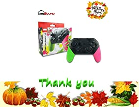 Wireless pro Game Controller for Nintendo Switch by Gamebound (Green & Pink)